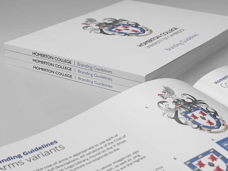 Heraldry illustration - Homerton College Cambridge cover with full achievement coat of arms vector heraldic artwork