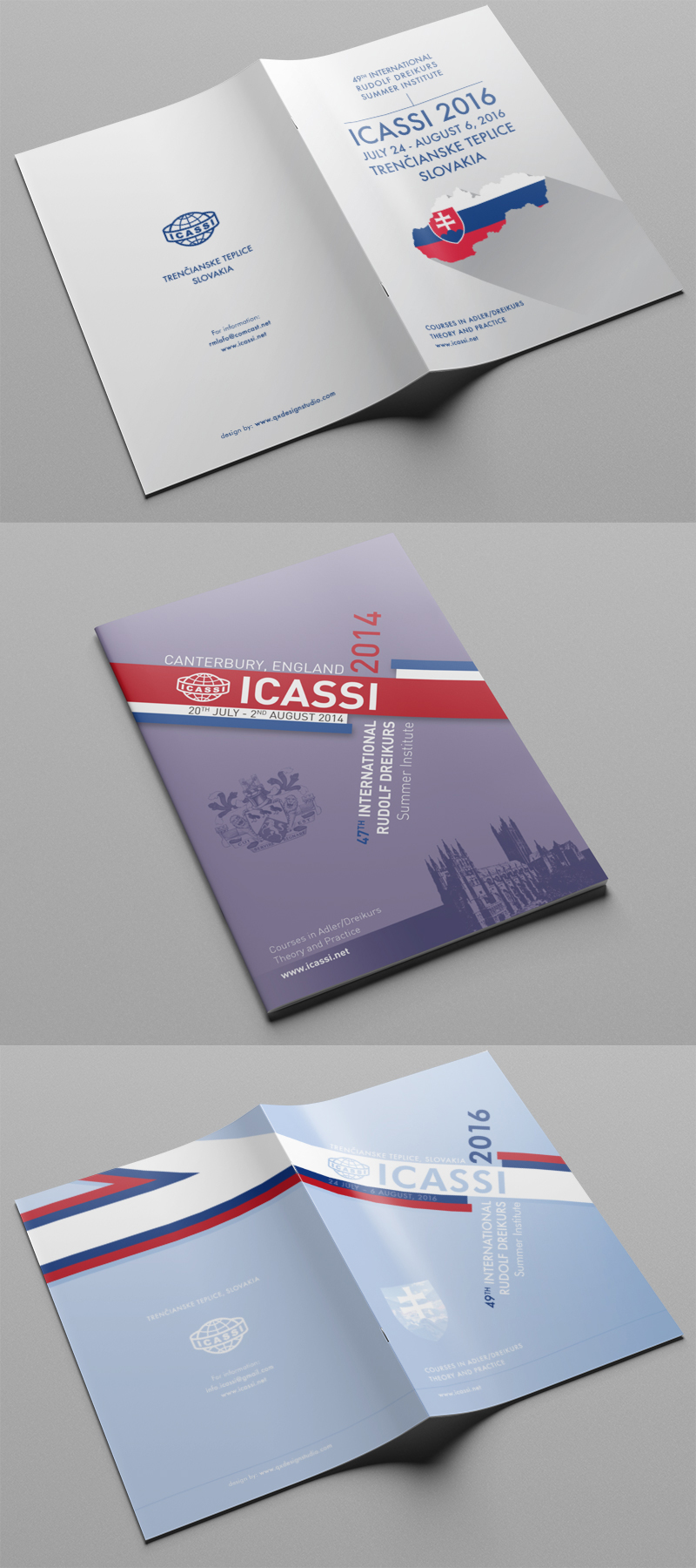 Graphic design - ICASSI conference program typographical cover artwork printed at A5