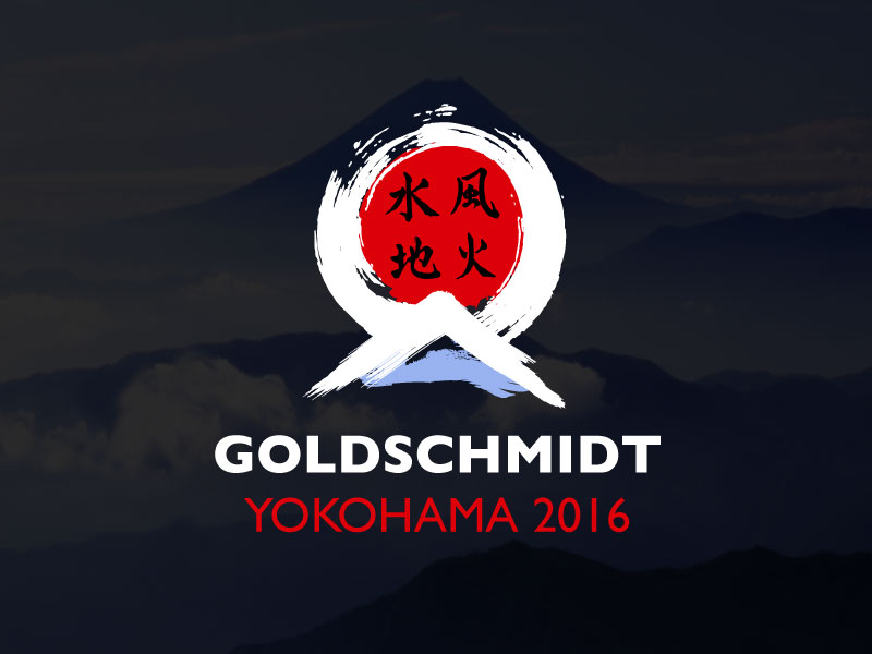 Conference Goldschmidt 2016 Japanese-style logo and website design