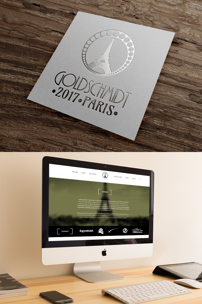 Logo - Goldschmidt 2017 web design for homepage
