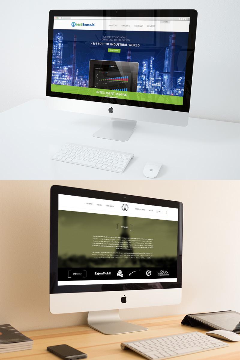 website design homepage on imacs for Cambridge companies