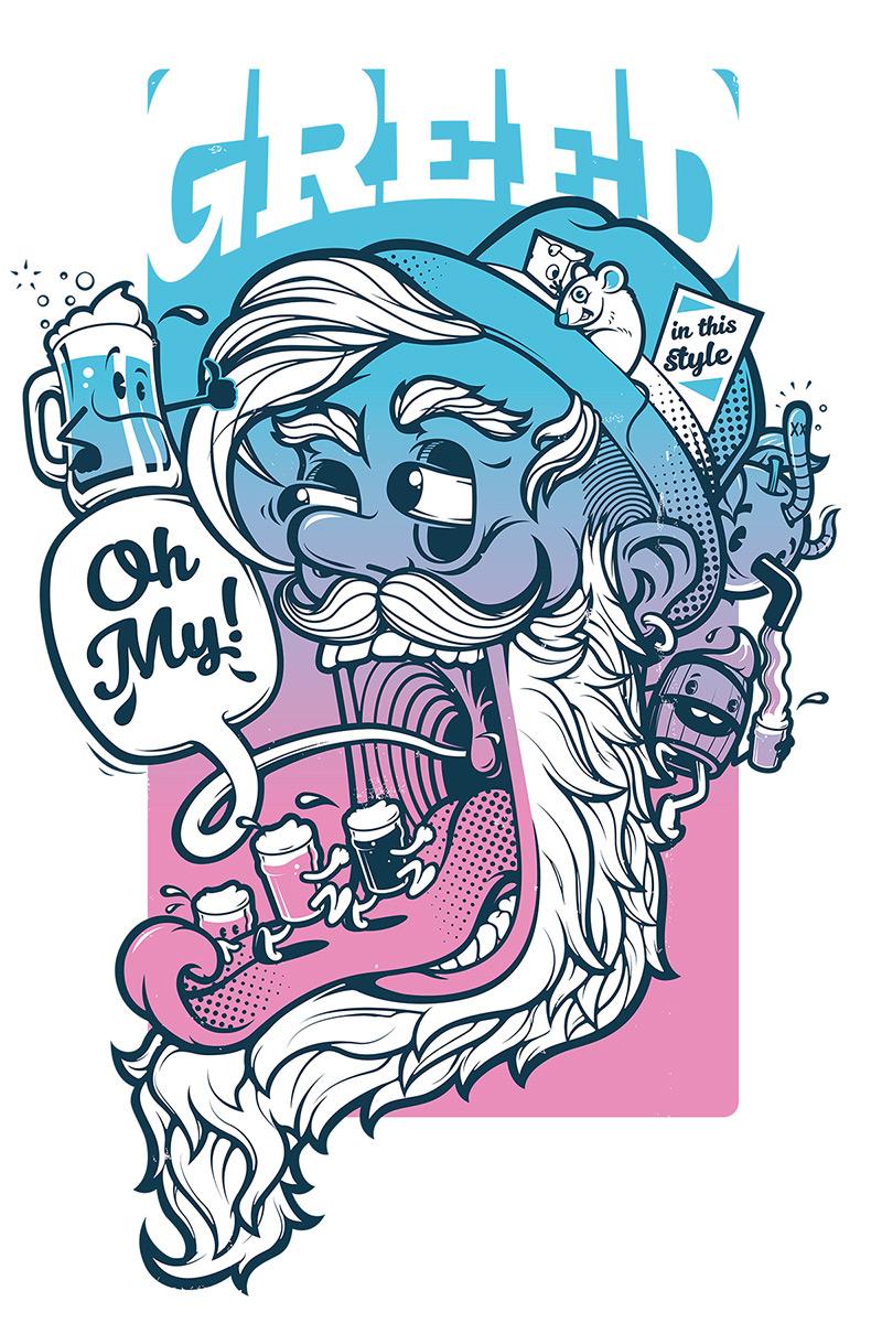 Cartoon beer festival poster